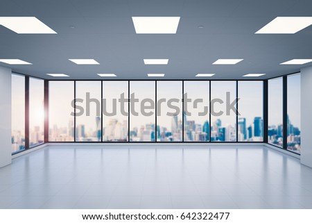 office space pic. delighful pic 3d rendering empty office space with glass windows with office space pic