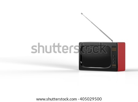 3d rendering fashion style TV isolated with white background