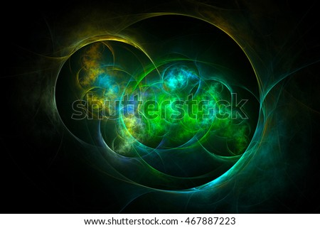 3D rendering fractal light background