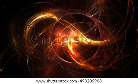 3D rendering fractal nebula background