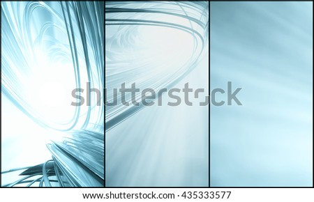3D rendering futuristic background for banner