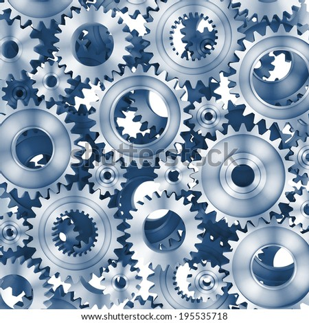 3d rendering Gears Background - stock photo