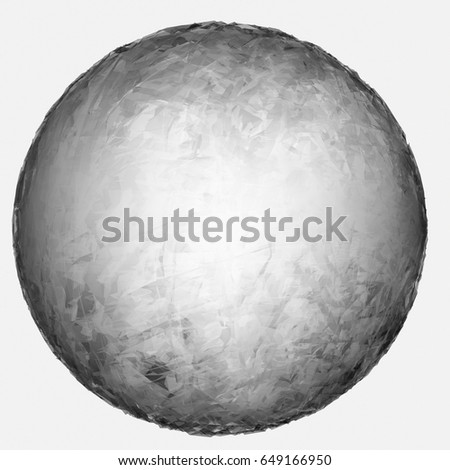 3d rendering illustration of a gray natural core texture