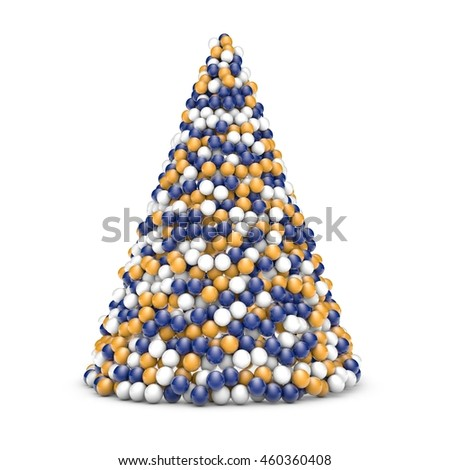3d Rendering Illustration of Christmas tree