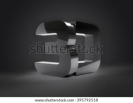 3D Rendering inscription text shiny 1 - stock photo