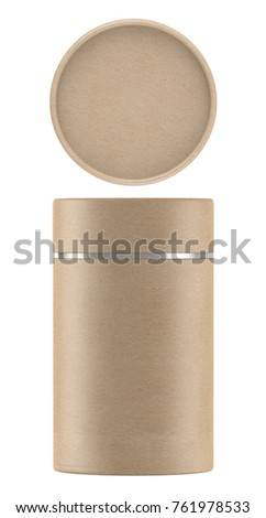 3d rendering kraft paper tube packaging stock illustration for Kraft paper craft tubes
