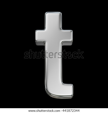 3d rendering, metal font, lowercase letter a from chrome solid alphabet. - stock photo
