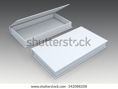 3D Rendering Mock Up Packaging for Software, Disc, electronic devices in Isolated Background with Work Paths, Clipping Paths Included.  - stock photo