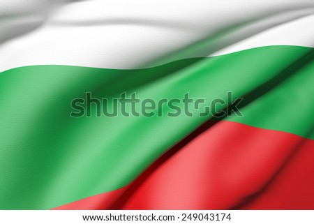 3d rendering of a Bulgaria flag
