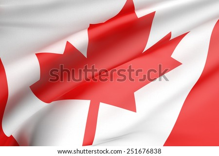 3d rendering of a canada flag - stock photo