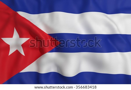 3d rendering of a Cuba flag waving - stock photo