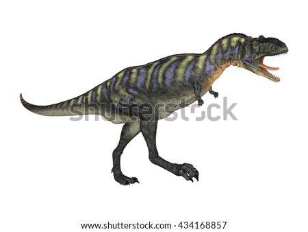 3D rendering of a dinosaur Aucasaurus isolated on white background