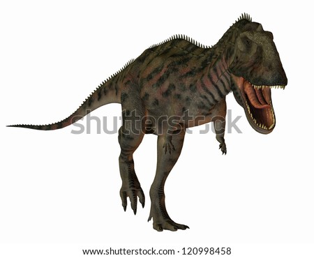 3D rendering of a dinosaur Majungasaurus
