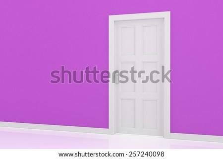 3d rendering of a door - stock photo