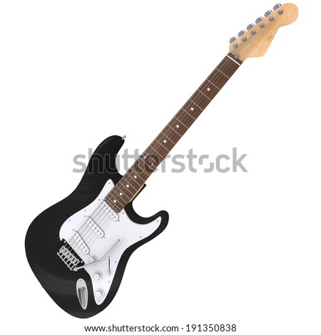 3d Rendering of a Electric Guitar