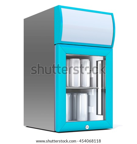 3d Rendering of a Fridge Drink on a white background. Isolated