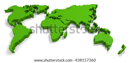 3d rendering of a green world on a white background