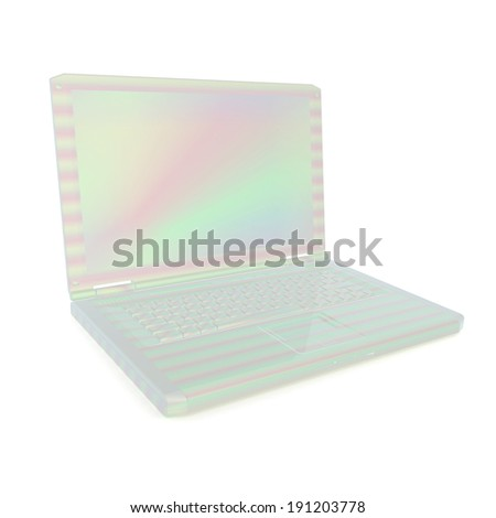 3d rendering of a laptop - stock photo