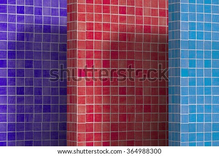 3d rendering of a lot of colorful cubes. - stock photo