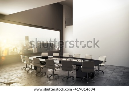 3D rendering of a modern office - stock photo
