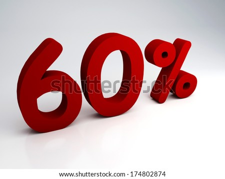 3D rendering of a 60 percent - stock photo
