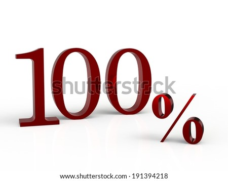 3d rendering of a 100 percent discount on a white background