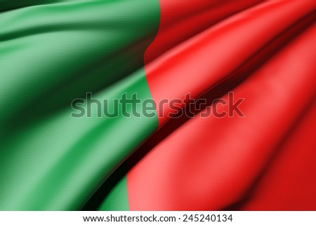 3d rendering of a Portugal flag