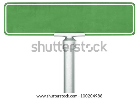 3d rendering of a single blank sign