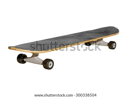 3d rendering of a skateboard on a white background