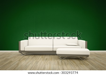 3D rendering of a sofa interior background - stock photo