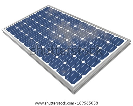 3d Rendering of a Solar Panel - stock photo