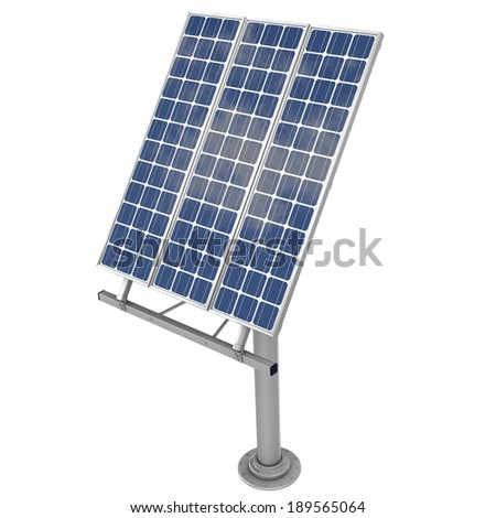 3d Rendering of a Solar Panel with Mount - stock photo