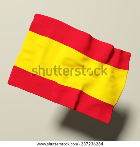 3d rendering of a Spain flag - stock photo