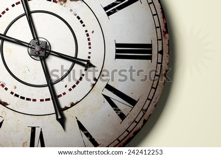 3d rendering of a strange antique clock