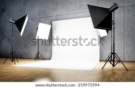 3D rendering of a studio background