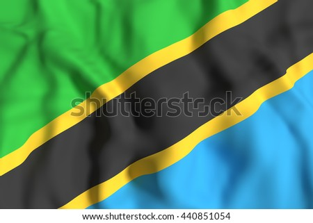3d rendering of a Tanzania flag waving