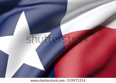 3d rendering of a texas flag - stock photo