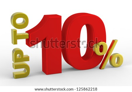 3D rendering of a up to 10 percent Discount