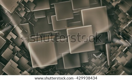 3D rendering of abstract background with cubes