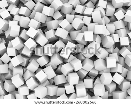 3d rendering of abstract cubes boxes background - stock photo