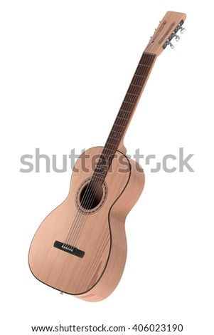 3d rendering of acoustic guitar