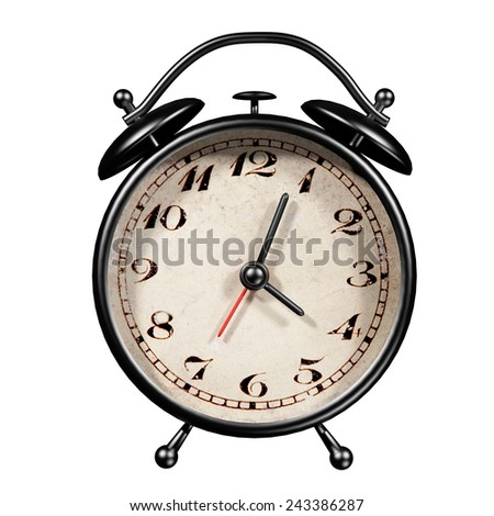 3d rendering of an alarm clock isolated on white