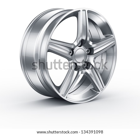 3d rendering of an alloy rim - stock photo