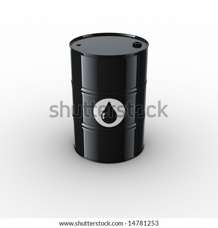 3d rendering of an oil drum
