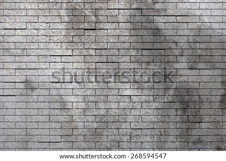 3d rendering of an old and dirty brick wall