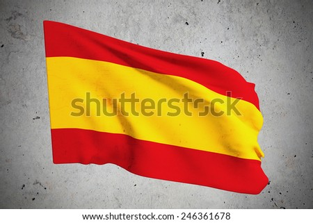 3d rendering of an old Spain flag - stock photo