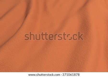 3d rendering of an orange rippled fabric.From above - stock photo