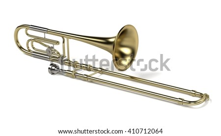 3d rendering of bass trombone