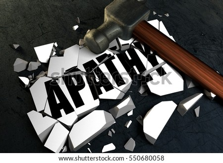3D rendering of Breaking Apathy symbol