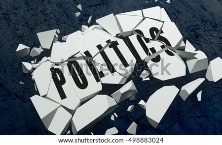 3D rendering of Breaking Politics symbol